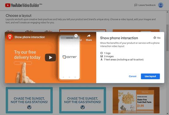 Videó készítése a YouTube Video Builder használatával gyorsan és ingyen